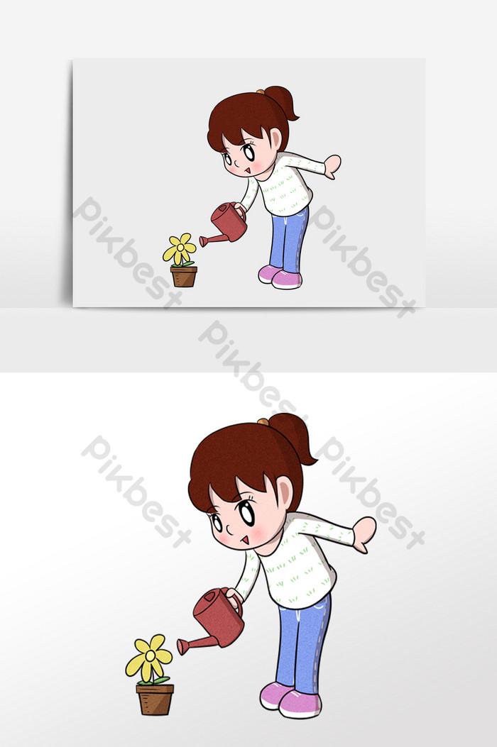 Animasi Menyiram Tanaman : animasi, menyiram, tanaman, Download, Gambar, Animasi, Orang, Menyiram, Bunga, Terbaik