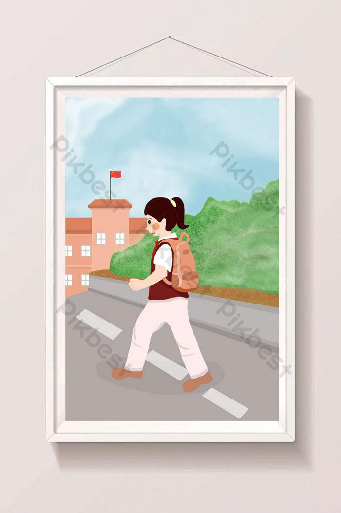 Berangkat Sekolah Kartun : berangkat, sekolah, kartun, Cartoon, Semester, Going, School, Illustration, Design, Download, Pikbest