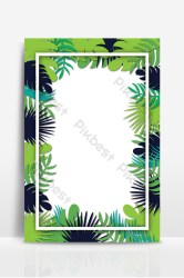 border background leaves fresh pikbest template backgrounds ai
