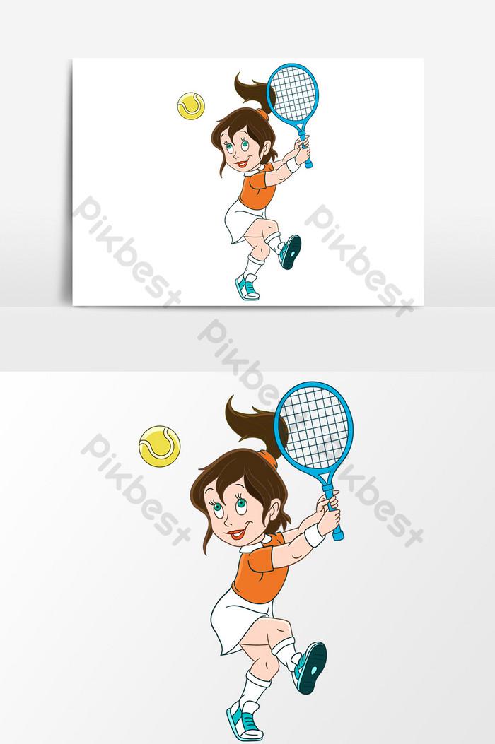 Gambar Permainan Bulu Tangkis : gambar, permainan, tangkis, Gambar, Kartun, Bermain, Tangkis