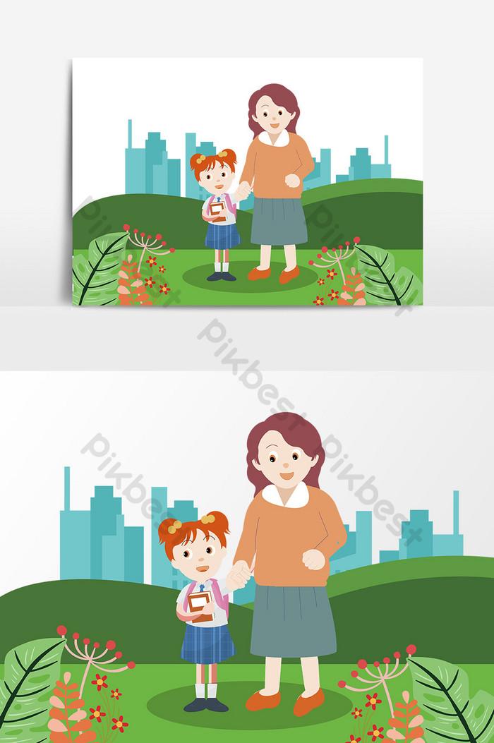 Animasi Ibu Dan Anak : animasi, Paling, Keren, Gambar, Kartun, Richa