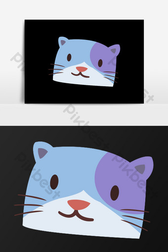 Gambar Kepala Kucing Kartun : gambar, kepala, kucing, kartun, Cartoon, Various, Action, Illustration, Elements, Download, Pikbest