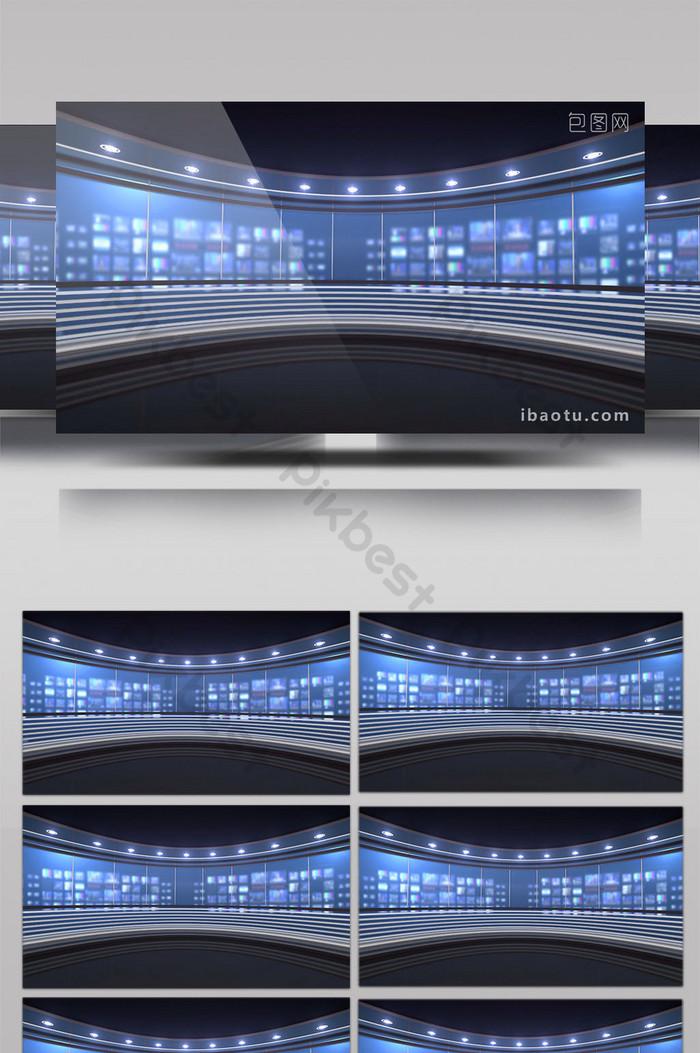 超清科技感電視臺錄播間直播間素材  MP4 視頻素材免費下載 - Pikbest