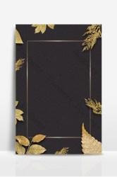 Black gold leaf border poster background design Backgrounds PSD Free Download Pikbest