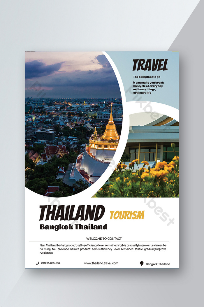 Thailand Leisure Vacation Travel Flyer Psd Free Download Pikbest