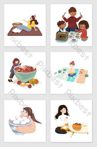 Gambar Kartun Sedang Makan : gambar, kartun, sedang, makan, Gambar, Kartun, Keluarga, Sedang, Makan, Malam