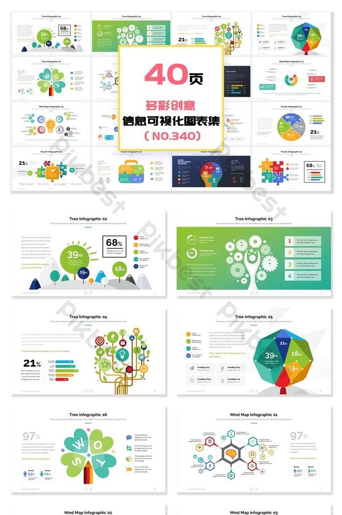 40頁多彩創意樹圖形信息可視化PPT圖表 | PowerPoint素材PPTX免費下載 - Pikbest
