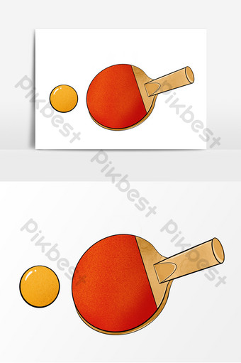 Gambar Bola Tenis Meja : gambar, tenis, Tennis, Racket, Cartoon, Elements, Images, Download, Pikbest