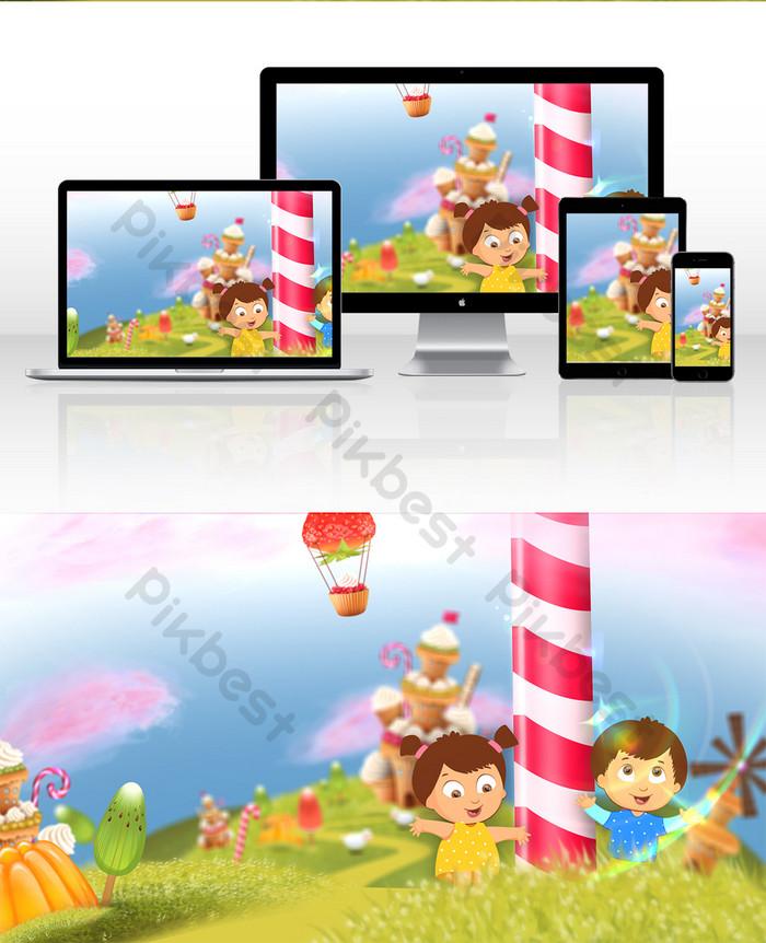 Animasi Taman Kanak Kanak : animasi, taman, kanak, Kartun, Kanak-kanak, Selamat, Animasi, Ilustrasi, Percuma, Turun, Pikbest