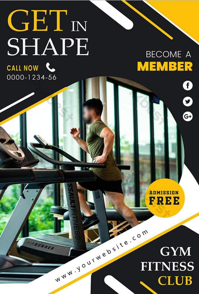 Poster Brosur Kebugaran Gym Templat Ai Unduhan Gratis Pikbest