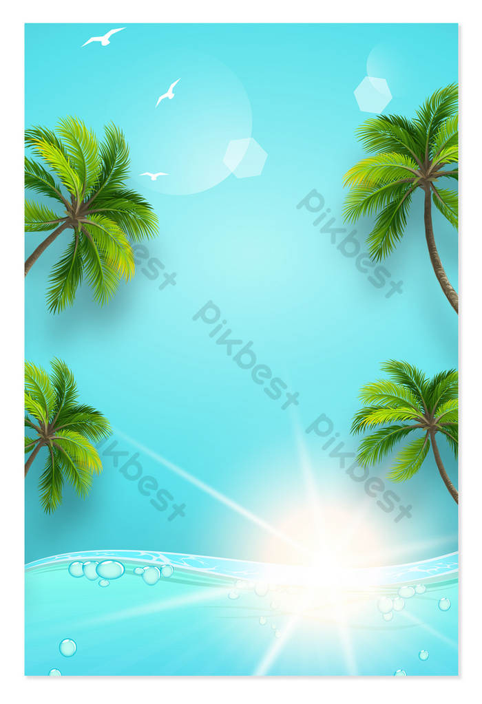 Cool Summer Beach Travel Vacation Simple Tropical Background Backgrounds Psd Free Download Pikbest