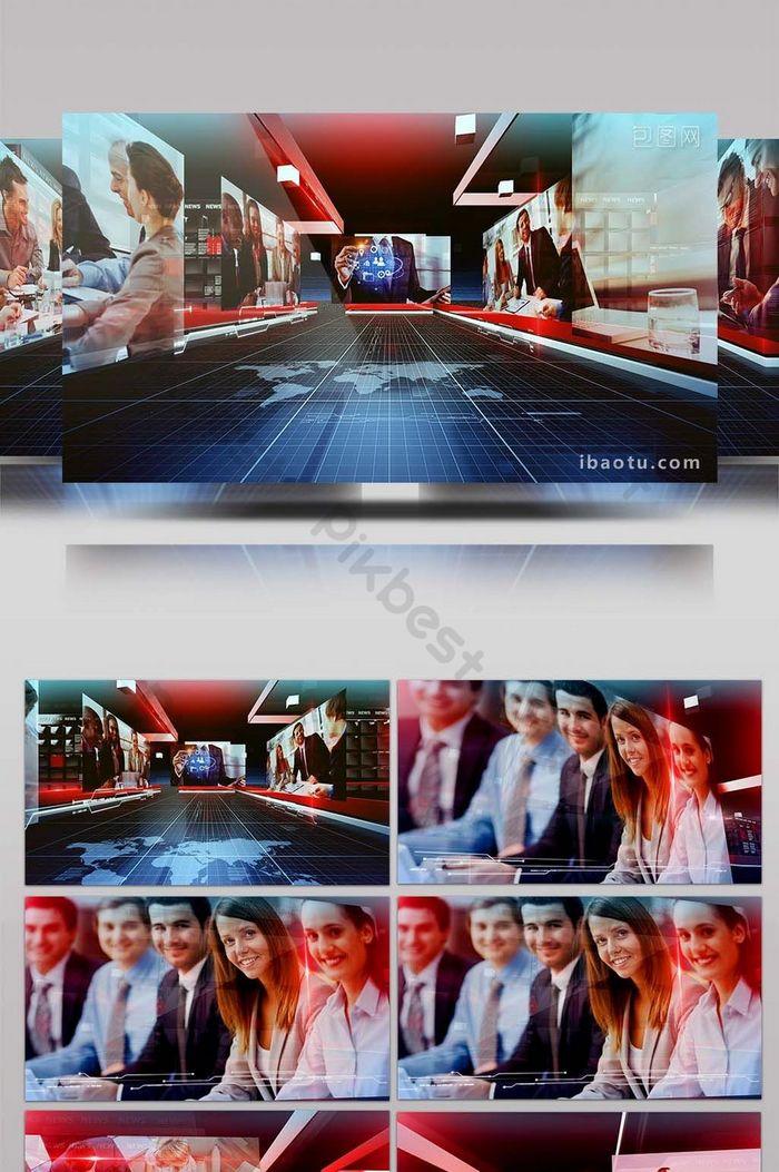 三維空間圖文新聞欄目片頭AE模板| AEP 視頻素材免費下載 - Pikbest