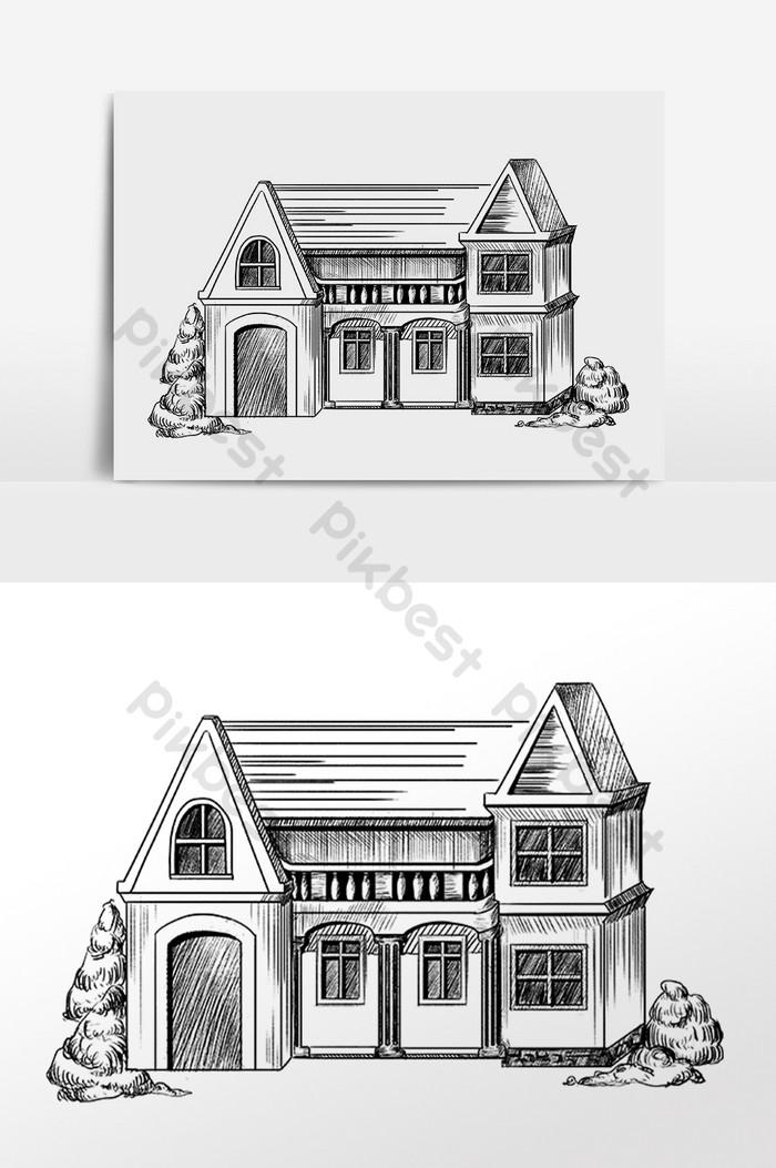 Rumah Animasi Hitam Putih : rumah, animasi, hitam, putih, Koleksi, Gambar, Rumah, Kartun, Hitam, Putih, Gratis, Terbaik