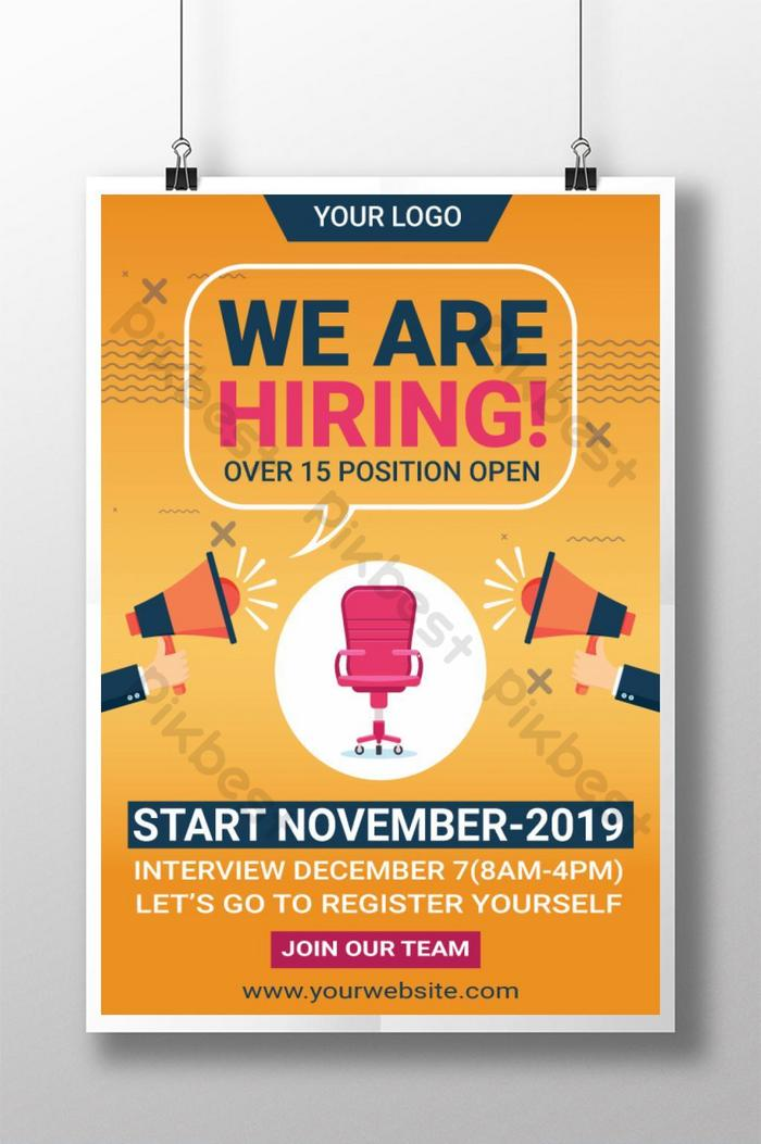 Corporate We Are Hiring Job Poster | AI Free Download - Pikbest