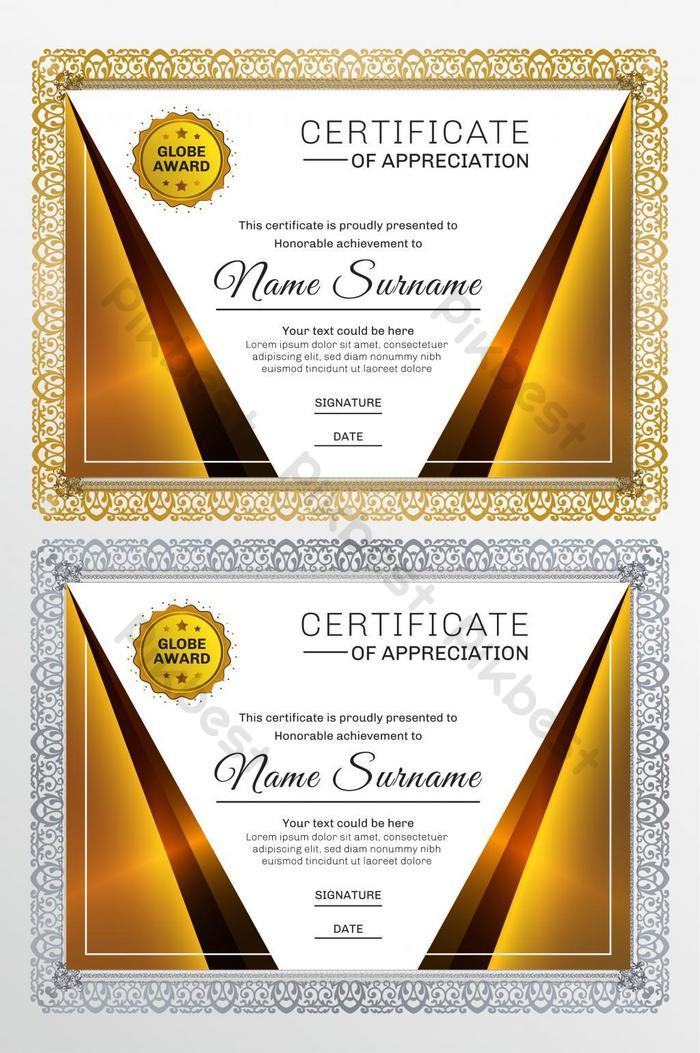 Background Piagam Penghargaan Kosong Hd : background, piagam, penghargaan, kosong, Unduh, Koleksi, Background, Sertifikat, Orange, Gratis, Download
