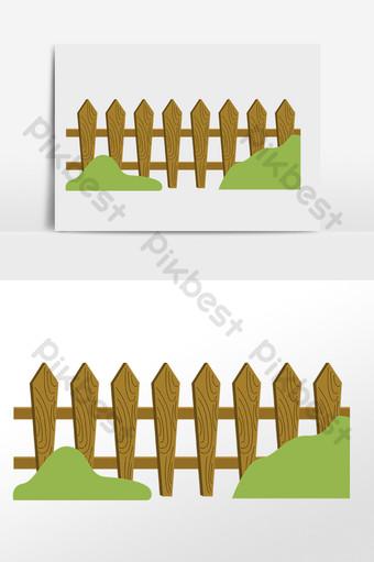 Gambar Kebun Binatang Kartun : gambar, kebun, binatang, kartun, Drawing, Wooden, Garden, Decorative, Fence, Illustration, Images, Download, Pikbest