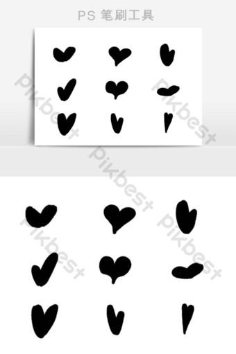 Gambar Hati Hitam Putih : gambar, hitam, putih, Gambar, Cinta, Hitam, Template, Png,Vektor, Download, Gratis, Pikbest
