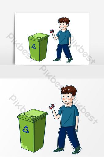 Animasi Membuang Sampah Sembarangan : animasi, membuang, sampah, sembarangan, Contoh, Gambar, Kartun, Orang, Buang, Sampah, Ideku