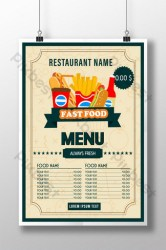 Food Menu Vector Templates Free Psd & Png Vector Download Pikbest