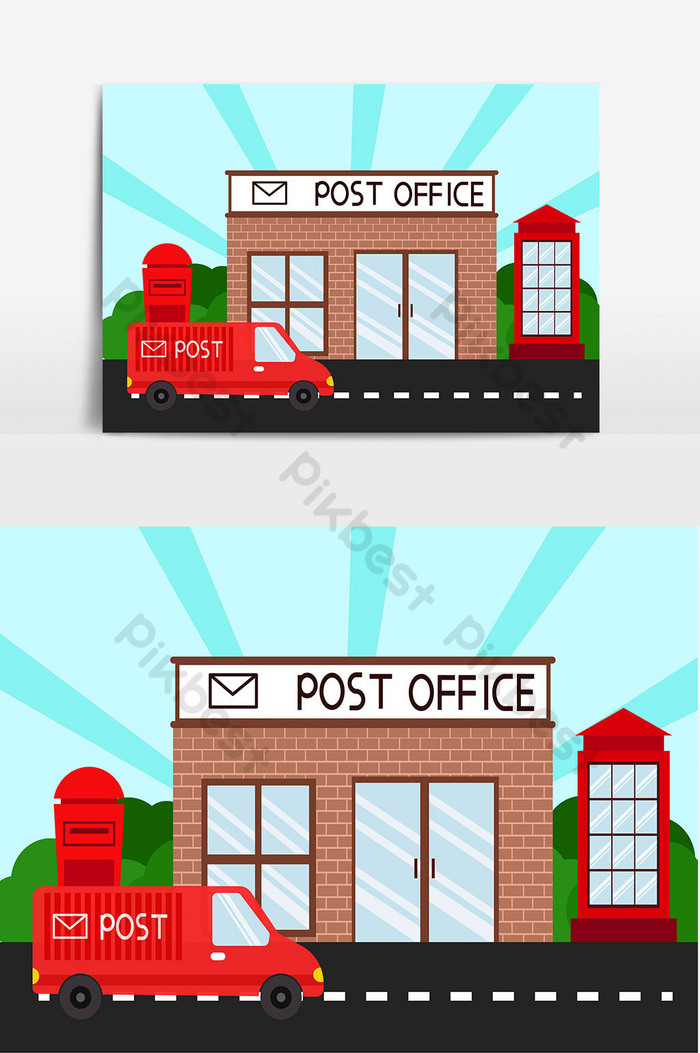 Kantor pos kartun gambar | Domain publik vektor