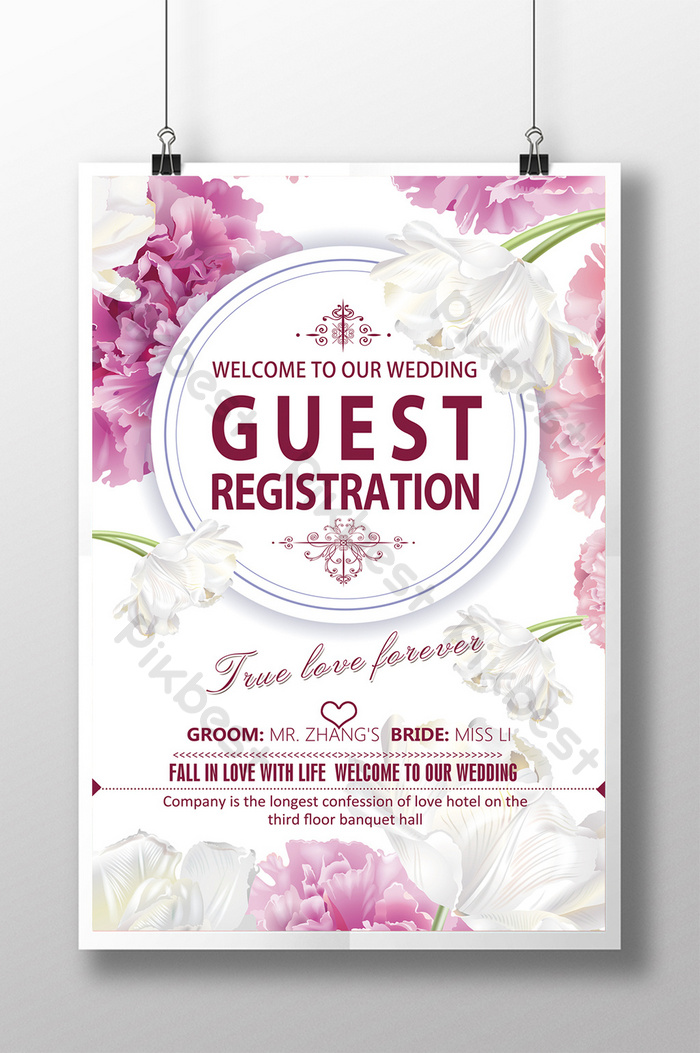 wedding welcome sign in poster psd