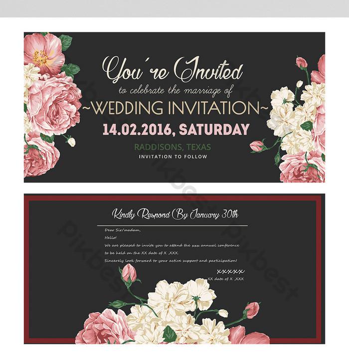 carte d invitation de mariage de mode
