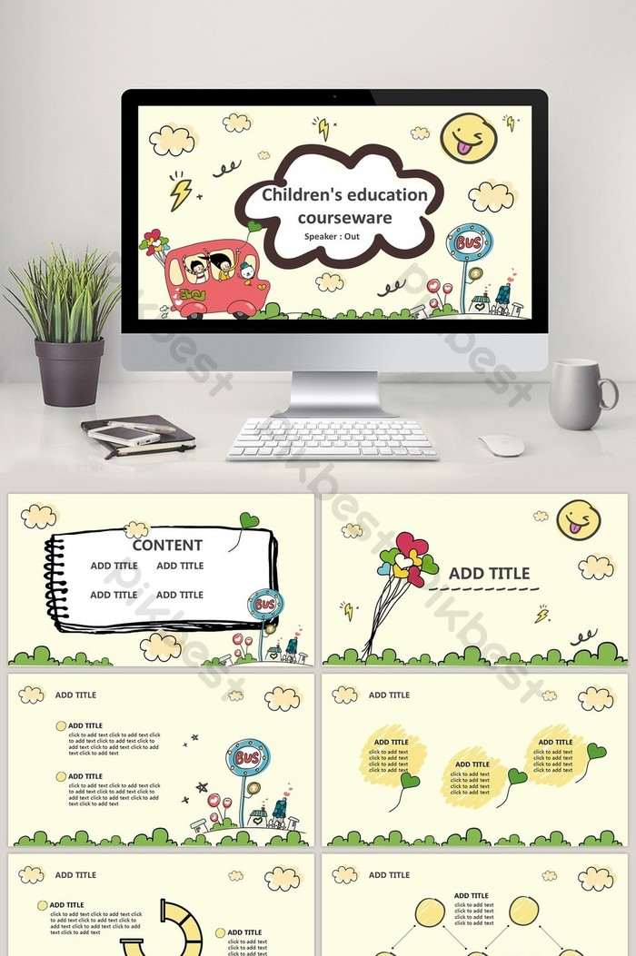 Background Power Point Pendidikan : background, power, point, pendidikan, Cartoon, Style, Campus, Education, Theme, Template, PowerPoint, Download, Pikbest