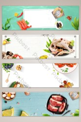 banner food background poster fresh backgrounds pikbest psd template