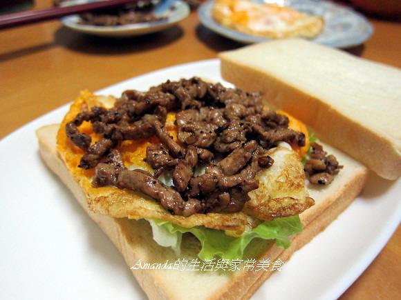 燒肉三明治