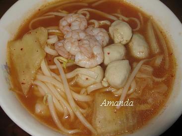 鮮蝦泡菜麵