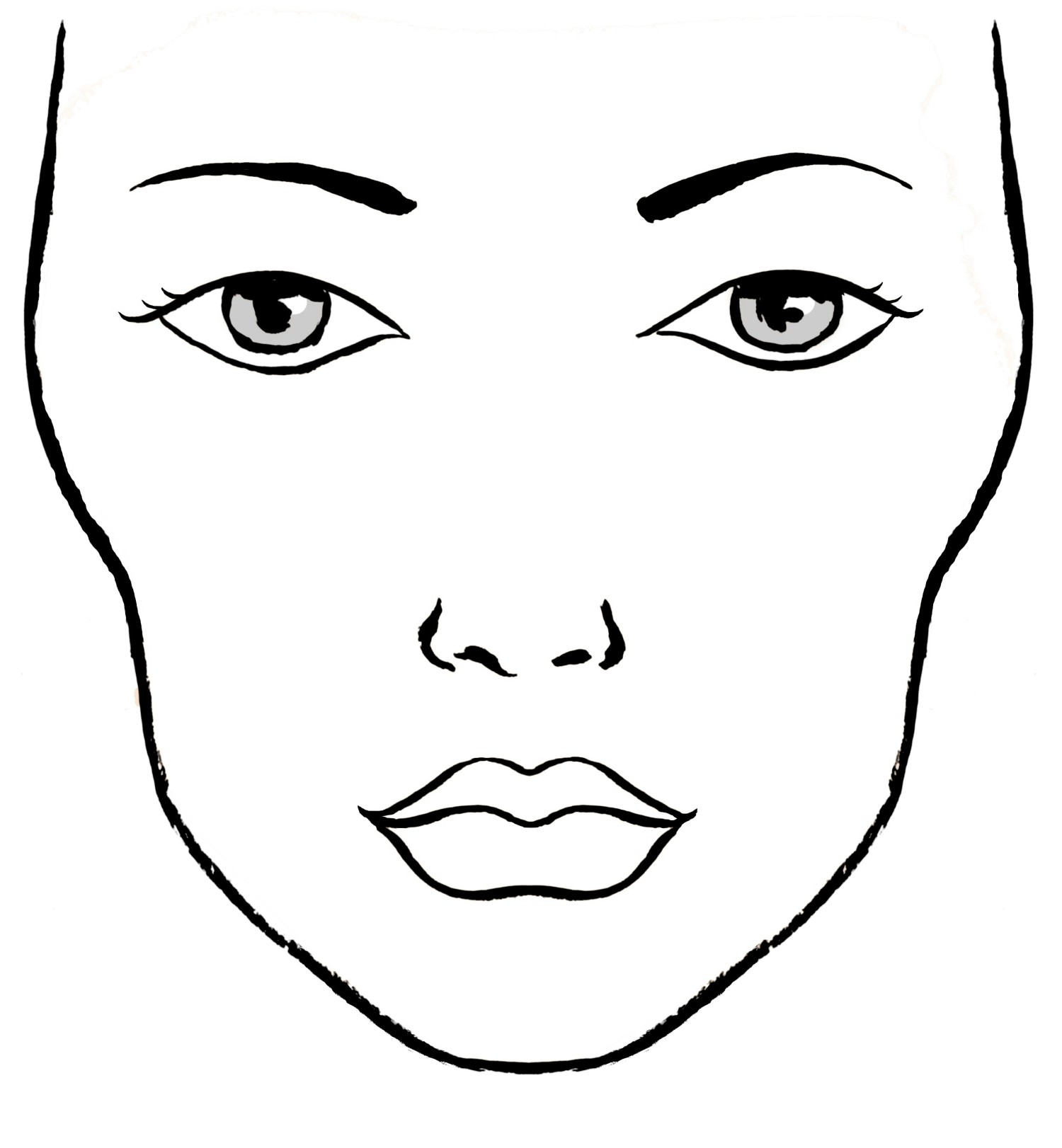 Blank Makeup Face For Drawing Pictures To Pin