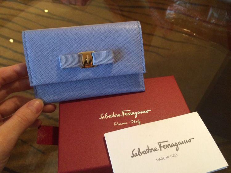 Salvatore Ferragamo經典Logo款 女生 名片夾/ 票夾