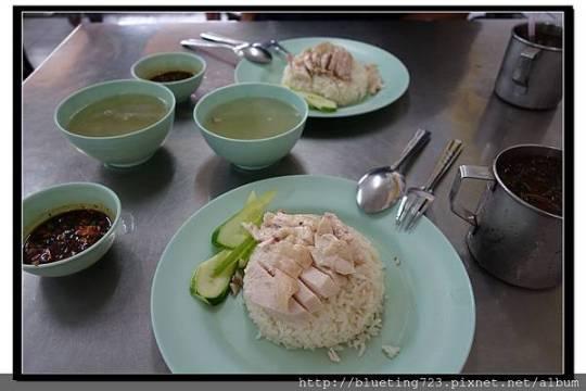 泰國曼谷《水門老字號正庄鵪雞飯》雞飯套餐.jpg