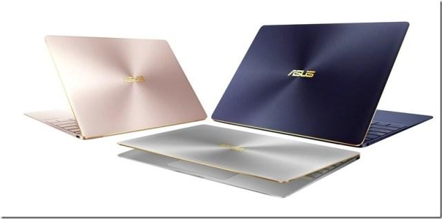 ASUS ZenBook 3_玫瑰金、皇家藍、石英灰