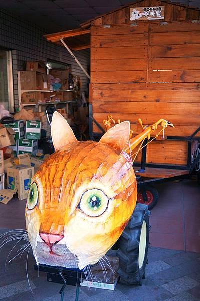 """雲林景點推薦-相機拍不停的「屋頂上的貓」""""貓咪彩繪村""""虎尾頂溪社區"""