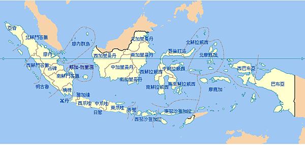 【印尼地圖】印尼各省分佈地圖 @ 印尼生活不NG_Nina@Indo :: 痞客邦