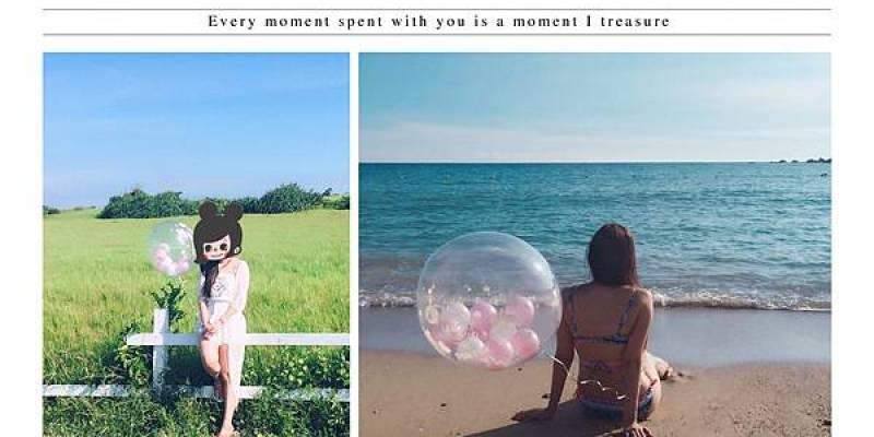 [墾丁旅遊]跟著PinPin&ViVi帶著氣球拍IG美照-風吹砂 水蛙窟 小灣沙灘