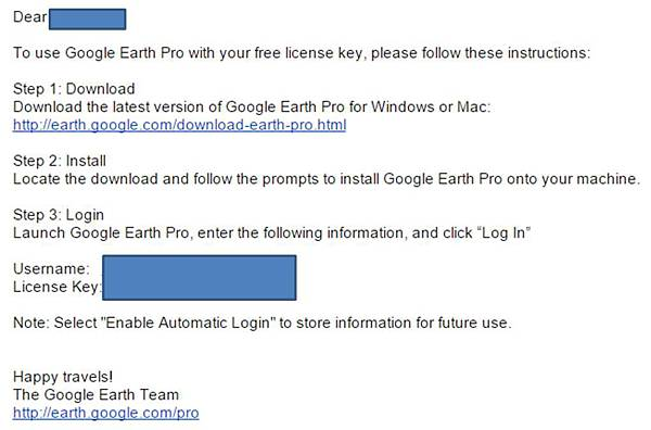 google earth email
