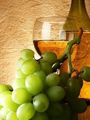 ブドウと白ワインの画像(プリ画像)