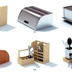 Kitchen Pots Island Corbels 厨房用具3d模型 厨房用具