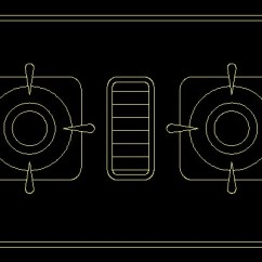 Kitchen Sink Size Outdoor Drawers 餐具炉具cad平面图块8--cad..-设计本cad图块下载