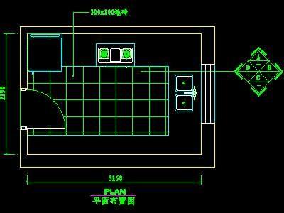 kitchen designer software best sink brands 厨房实例cad祥图20--cad空..-设计本cad图块下载