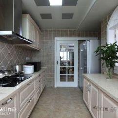 Kitchen Floor Designs Mobile Island 厨房地板地砖装修效果图 设计本 美式风格厨房地板砖装修设计效果图