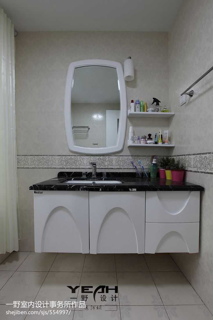 kitchen showrooms cabinet door 现代简约风格三居室卫生间洗漱台设计 – 设计本装修效果图