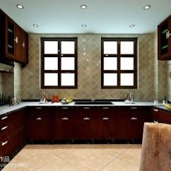 Dark Kitchen Floors Handmade Islands 【青砖装修效果图】 - 设计本