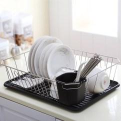Kitchen Drainer Basket Grey Blinds 欧润哲 厨房单层碗碟沥水架/篮 沥碗架/晾碗架/放碗盘/碗筷置物架-设计本逛商品