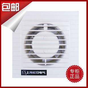 kitchen exhaust fan light 上海松日玻璃窗墙式排气扇卫生间排风扇厨房换气扇6寸150mm包邮-设计本逛商品