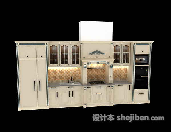 white kitchen cabinets colors for 白色厨柜3d模型下载 设计本3d模型下载