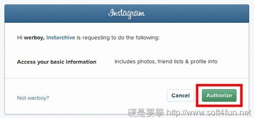 完整下載/備份上傳到 Instagram 的照片:Instarchive instarchive-02_thumb
