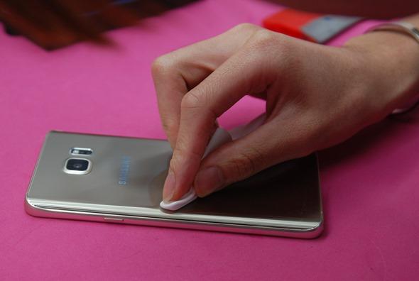 [手機包膜] Samsung Galaxy Note 5 保護貼摩斯密碼全機包膜全紀錄 DSC_0090